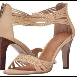 Corso Como Nude Braided Strap Ankle Wrap Heel 6.5